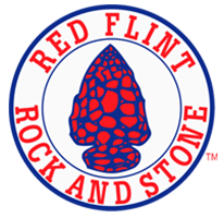 Natural Crushed Rock, Interior/Exterior Decorative Stone | Boulders, Veneer, Ground Cover, Flagstone | Red Flint Rock & Stone Logo